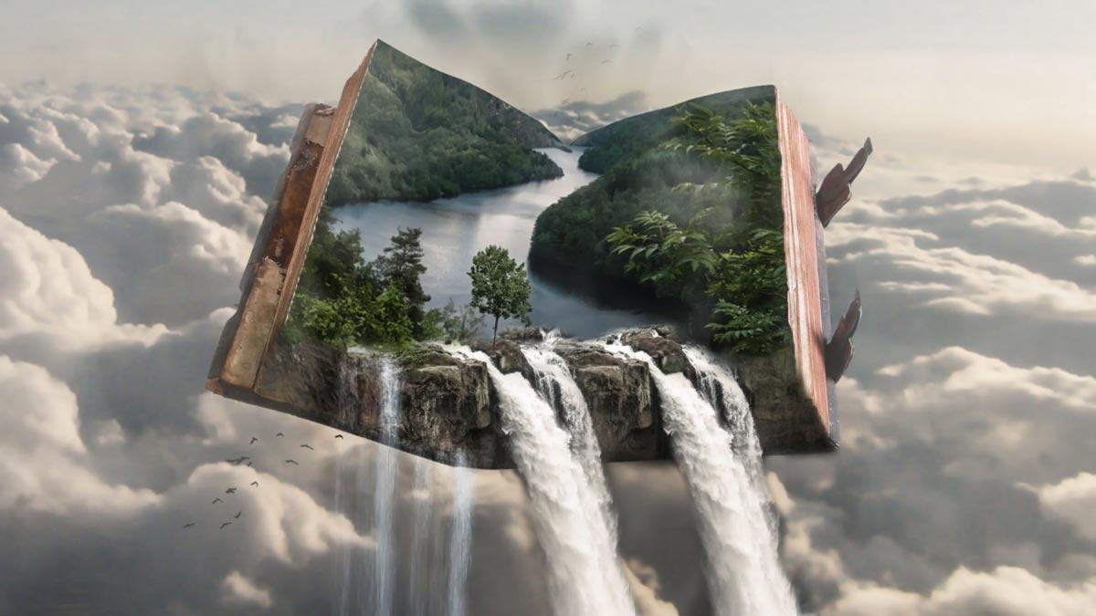 PixelFixer Fotobewerking Waterval uit boek