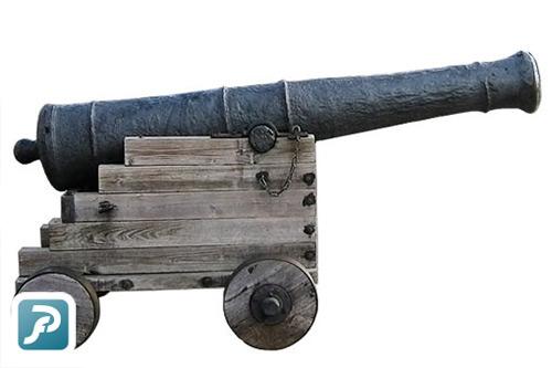 Voorbeeld kanon in foto uitsnijden PixelFixer