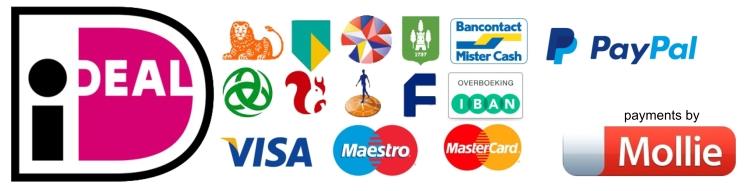 Veilig en vertrouwd betalen bij PixelFixer.nl voor foto herstel en foto bewerking via Mollie met iDEAL Paypal bankoverschrijving en meer.